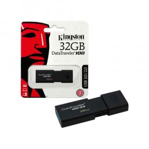 Kingston DT100G3/32GB DataTraveler 100 G3 USB 3.0 3.1 Flash Drive 32GB Noir