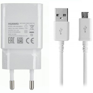 Caricabatteria Originale 5V 2A + cavo Micro USB per Huawei Ascend W2