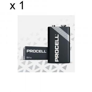 1 PACCO 10 BATTERIE DURACELL PROCELL E-BLOCK TRANSISTOR 9V PILE ALCALINE