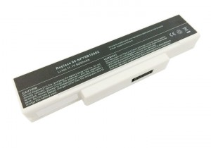Batterie 5200mAh BLANCHE pour ASUS MSI OLIVETTI M660BAT-6 M660NBAT-6 M740BAT-6
