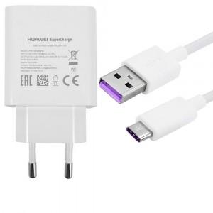 Cargador Original Super Carga + cable Type C para Huawei P20