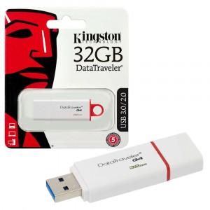 Kingston DTIG4/32GB DataTraveler G4 USB 3.1 3.0 2.0 Pendrive 32GB Blanco Rojo