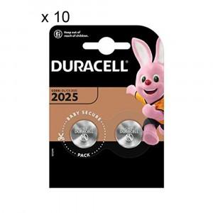 20 Batteries Duracell 2025 Coin 3V Lithium DL2025 CR2025