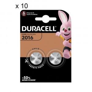 20 Batteries Duracell 2016 Coin 3V Lithium DL2016 CR2016
