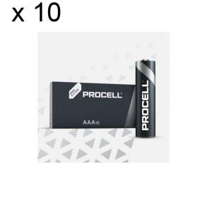 100 Batteries Duracell Procell AAA LR03 1.5V Alkaline Battery Industrial