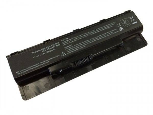 Batería 5200mAh para ASUS N46VM-V3030D N46VM-V3031D N46VM-V3031V N46VM-V3034V5200mAh