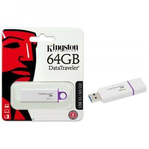 Kingston DTIG4/64GB DataTraveler G4 USB 3.1 3.0 2.0 Pendrive 64GB Blanco Púrpura