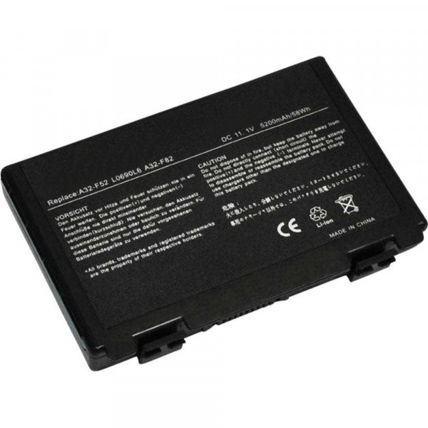 Battery 5200mAh for ASUS K50AD-SX014V K50AD-SX032V