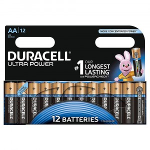 12 PILE BATTERIE DURACELL ULTRA POWER CON POWERCHECK AA STILO 1.5V ALCALINE
