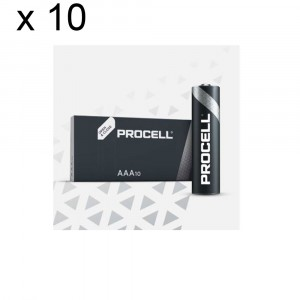 10 PACKS 100 BATTERIES DURACELL PROCELL AAA LR03 1.5V ALKALINE BATTERY