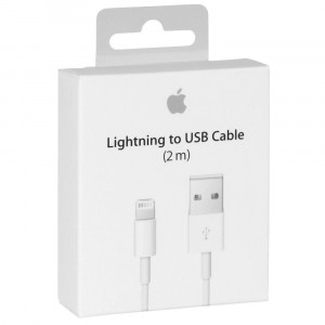 Original Apple Lightning USB Cable 2m A1510 MD819ZM/A for iPhone 5c A1526