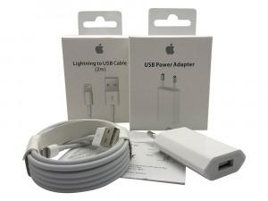 Caricabatteria Originale 5W USB + Cavo Lightning USB 2m per iPhone 5s A1533