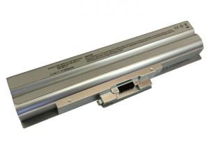 Batteria 5200mAh ARGENTO per SONY VAIO VGN-NS30E-P VGN-NS30E-S
