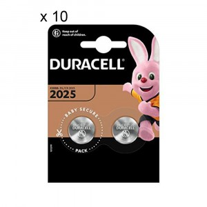 20 Batterie Duracell 2025 Pile A Bottone 3V Lithium Litio DL2025 CR2025