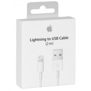 Câble Lightning USB 2m Apple Original A1510 MD819ZM/A pour iPhone 5c A1516