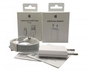 Caricabatteria Originale 5W USB + Cavo Lightning USB 1m per iPhone 5s A1533