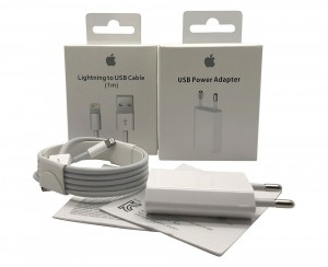 Caricabatteria Originale 5W USB + Cavo Lightning USB 1m per iPhone 6 A1586