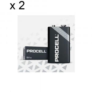 2 PACKS 20 BATTERIES DURACELL PROCELL E-BLOCK TRANSISTOR 9V ALKALINE BATTERY