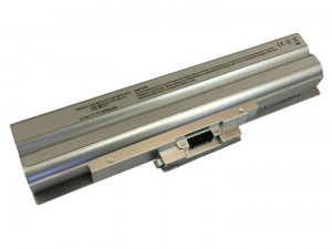 Batteria 5200mAh ARGENTO per SONY VAIO VGN-SR35M-B VGN-SR35T-B