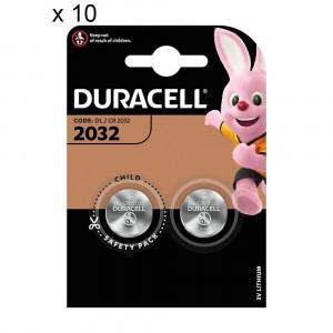 20 Batteries Duracell 2032 Coin 3V Lithium DL2032 CR2032